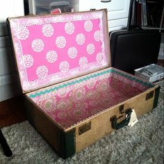 refurbishing old suitcases | Refurbished Vintage Suitcase {Tuesday Tutorial} | Amy CornwellAmy ...