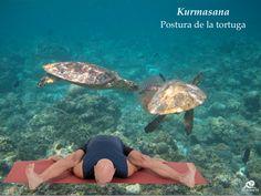 Kurmasana. Postura de la tortuga