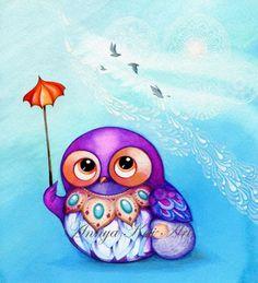 Mom-Baby-Buhos-lindo-dormitorio-Pintura-Arte-De-Pared-Purple-Violeta-Azul-Encaje-Blanco