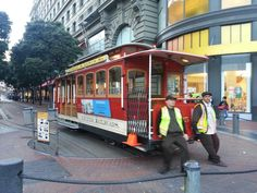 Powell Street Cable Car Turnaround in San Francisco, CA   Cars sometimes run late and schedules can be unpredictable, so be patient and flexible. Avoid boarding at the crowded Powell Street cable car turnaround — it's very crowded. The Powell-Hyde and Powell-Mason lines are the most scenic.