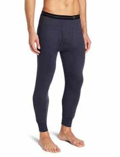 Duofold Men's Mid-Weight Wicking Thermal Pant Thermal Pants, Long Underwear, Thermal Insulation, Winter Sports, Cold Weather, Elastic Waist, Closure, Pants For Women, Blue Jeans