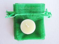 30 Emerald Green Organza Gift Bags  3 x 4  by studio8supplies, $5.00