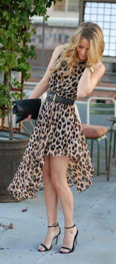 Zeliha's Blog: Adorable Leopard Dress With Black Belt
