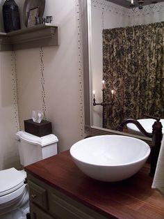 New shelf in my bathroom..Linda B.  Please visit my site: www.picturetrail.com/theprimitivestitcher