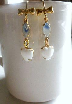 Vintage Dangle Earrings Valentine Earrings, #PCFTeam,  #TreasuresofJewels,