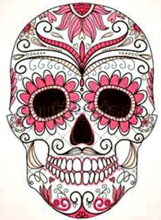 Photos dessin tattoo crane Mexican page 5 Sugar Skull Tattoos, Sugar Skull Art, Sugar Skulls, Sugar Skull Design, Mexican Skulls, Mexican Art, Mexican Candy, Tattoo Crane, Los Muertos Tattoo