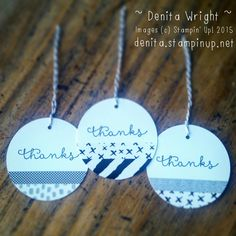 Sweet and simple 'Thankyou' gift tags - made by Denita Wright Independent Stampin' Up! Demonstrator Australia