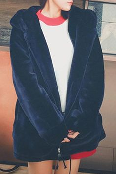 velvet hoodie... i don't need the ear shape, but a dark blue velvet hoody is something i'd like