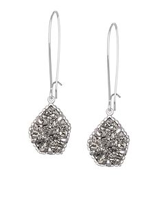 Cathy Earrings in Platinum Drusy - Kendra Scott Jewelry. Coming October 15!