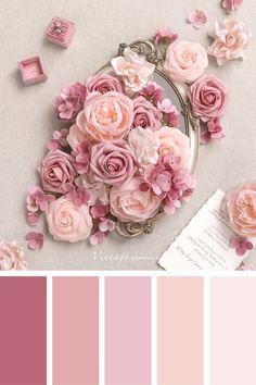 Pink Palette, Pastel Colour Palette, Colour Pallette, Pink Paint Colors, Spring Color Palette, Old Rose Color Palette, Spring Colors, Silver Color Palette, Pink Wedding Colors