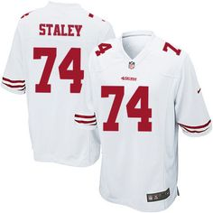 Joe Staley Elite Jersey-80%OFF Nike Joe Staley Elite Jersey at 49ers Shop. (Elite Nike Youth Joe Staley White Jersey) San Francisco 49ers Road #74 NFL Easy Returns.