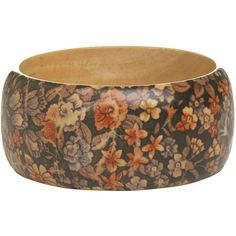 Wood Floral Bangle ($6) ❤ liked on Polyvore featuring jewelry, bracelets, accessories, bangles, bransoletki, bangle jewelry, wet seal, bracelet bangle, wooden bracelet and floral jewelry