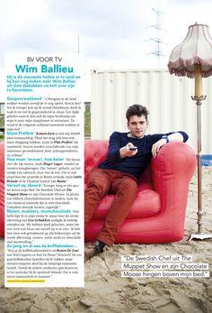 Flair (Belgian magazine) features Wim Ballieu on a sofa by Blofield Air Design.