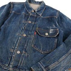 Levi Denim Jacket, Denim Jeans, Denim Jackets, Vintage Jeans, Vintage Outfits, Jean Shirts, Denim Shirts, Rugged Style, Hats For Men