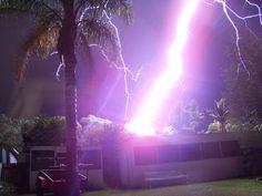 lightning bolt hit house