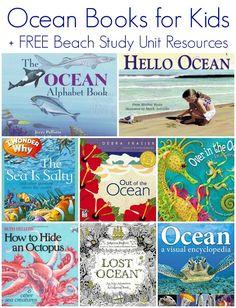 Ocean Children's Books for Kids + FREE Beach Study Unit Resources: I love Ruth Heller books! Ocean Activities, Book Activities, Sequencing Activities, Ocean Unit, E Mc2, Alphabet Book, Beach Kids, Free Beach, Ocean Themes