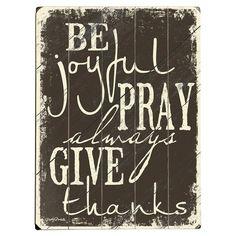 Be Joyful Wall Decor
