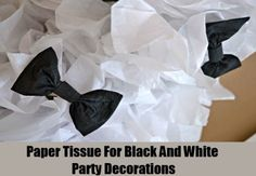 Paper Tissue For Black And White Party Decorations