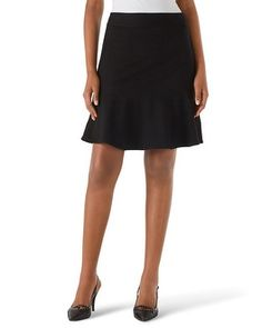 I'm looking for a classic flair or A-Line skirt. This looks like a possible option. White House | Black Market Ponte Flirty Skirt #whbm