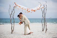 69 Adorable Beach Wedding Arches Burlap rugs, shell garland, gazebo covered in fabric Cheap Beach Wedding, Small Beach Weddings, Beach Wedding Photos, Beach Wedding Photography, Wedding Bows, Light Wedding, Second Weddings, Wedding Photoshoot, Photography Poses