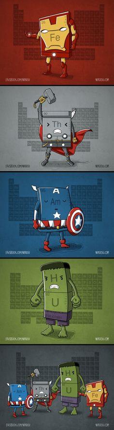 Chemical Avengers for my science superhero lovin' son