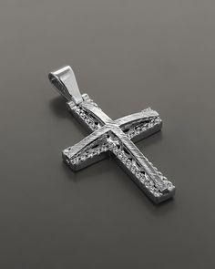 Βαπτιστικός Σταυρός λευκόχρυσος Κ14 με Ζιργκόν