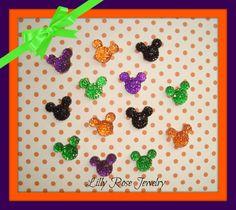 30 Halloween Glitter Rhinestone Minnie Mouse by LillyRoseJewelry, $4.50
