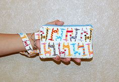 Kawaii Giraffes  Wristlet Purse with Removable by RKEMdesigns, $15.95