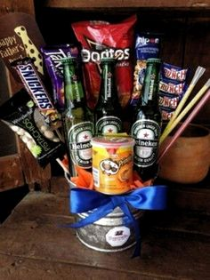 Candy Gift Baskets, Mother's Day Gift Baskets, Raffle Baskets, Liquor Gift Baskets, Candy Gifts, Food Bouquet, Candy Bouquet, Boyfriend Gift Basket, Boyfriend Gifts