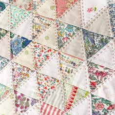 #patchwork #liberty #triangles #fastestsewerever