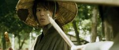 """""""Oro?"""" Kenshin is notoriously awkward about dealing with angry females.  :D"""