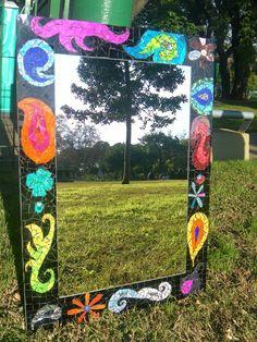 """Mosaiquismo. Espejo """"Power"""". Luzazul Arte Mosaics."""