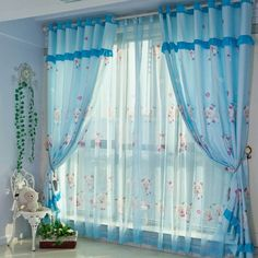 Beautiful Curtains Design for Cute and Sweet Decoration Boys Room Curtains, Childrens Curtains, Nursery Curtains, Childrens Bedroom, Color Block Curtains, Blue Curtains, Colorful Curtains, Bedroom Colour Schemes Blue, Bedroom Colors