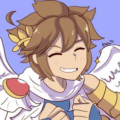 Pit Kid Icarus by Nintendo Characters, Movie Characters, Nintendo Games, Icarus Game, Drawing S, Art Drawings, Kid Icarus Uprising, Classic Video Games, Video Game Art