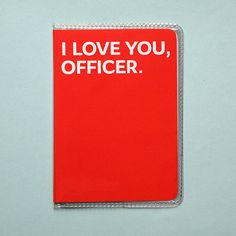 Other – Passport cover. I love you, officer – a unique product by 3zonyou on DaWanda