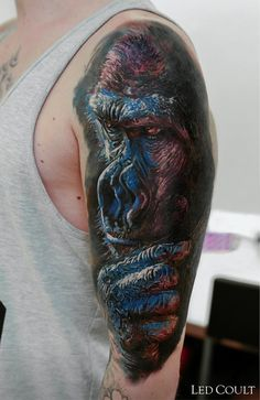Gorilla Tattoo by Led Coult