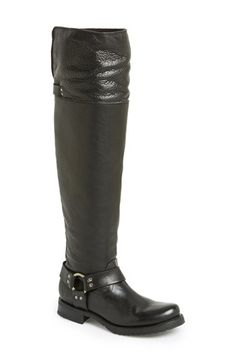 Free shipping and returns on Frye 'Veronica' Leather Over The Knee Harness Boot (Women) at Nordstrom.com. Frye's 150-year heritage of quality leatherwork is evident in a bench-crafted over-the-knee boot cinched with an equestrian-inspired harness strap and set on a low, stacked heel.