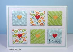 Lorraine's Loft 'hello' made using Simon Says Stamptember Products for the Wednesday Challenge Hop