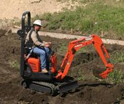 Mini Excavator Digging