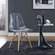 Truss Side Chair | Acrylic and Wood Accent or Dining Chair | On Trend | Modern Living | Eurway.com
