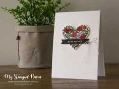 Cake Soiree, Heart Happiness, Stampin Blends birthday card #MyStampinHaven #StampinUp #GlobalDesignProject #GDP126