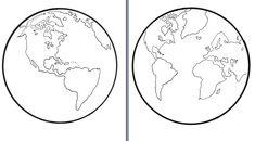 Planeta ziemia kolorowanka, szablon ziemi, dzień ziemi, praca plastyczna ziemia, moje dzieci kreatywnie, pliki do pobrania. Earth Day Activities, Space Activities, 3d Paper Crafts, Diy And Crafts, Arts And Crafts, Montessori, Preschool, Templates, Education