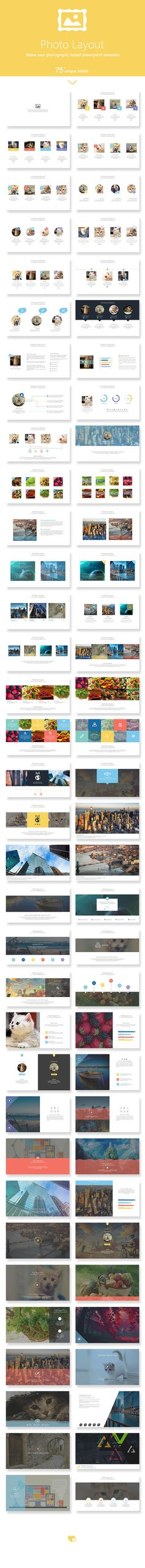 Photo Layout Powerpoint Presentation Template #design #slides Download: http://graphicriver.net/item/photo-layout-powerpoint-presentation-template/12351973?ref=ksioks