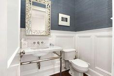 grasscloth powder bathrooms | Carol Reed Design - bathrooms - powder room, powder room ideas, powder ...