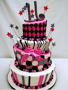 modern sweet 16 cake ideas Sweet 16 Cake Ideas For Girls