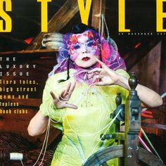 Sunday Times Style Cover showing Bjork's headpiece by James Merry