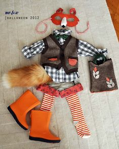 Fox Costume - 25 Best DIY Halloween Costumes for Boys - great tip on where to find the fox tail (it's a keychain! Best Diy Halloween Costumes, Cute Costumes, Fall Halloween, Costume Ideas, Halloween Ideas, Fox Costume, Costume Makeup, Baby Kostüm, Costume Tutorial