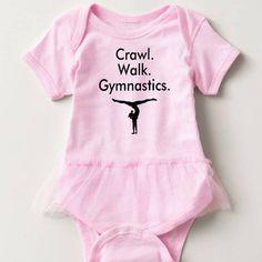 Gymnastics Baby Bodysuit One Piece Tutu Gymnast Newborn Infant