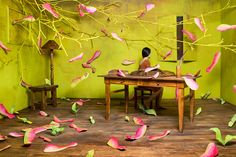 Korean artist Jee Young Lee creates beautiful dreamscapes in her Seoul studio space.