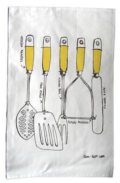 Utensils Tea Towel - Jam Tart